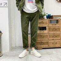 Winter Corduroy Pants Men Warm Fashion Retro Solid Color Casual Trousers Man Streetwear Wild Loose Straight Pants Male M 3XL