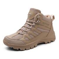 Hoge Kwaliteit Desert Militaire Tactische Laarzen Mannen Outdoor Hoge Top Ademend Wandelschoenen Mannelijke Sport Klimmen Trekking Sneakers