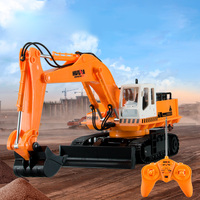 RC Vehicle Toys 2.4G Remote Control Excavator Toy RC Engineering Truck Digger Model Electronic Excavator Heavy Machinery Toy