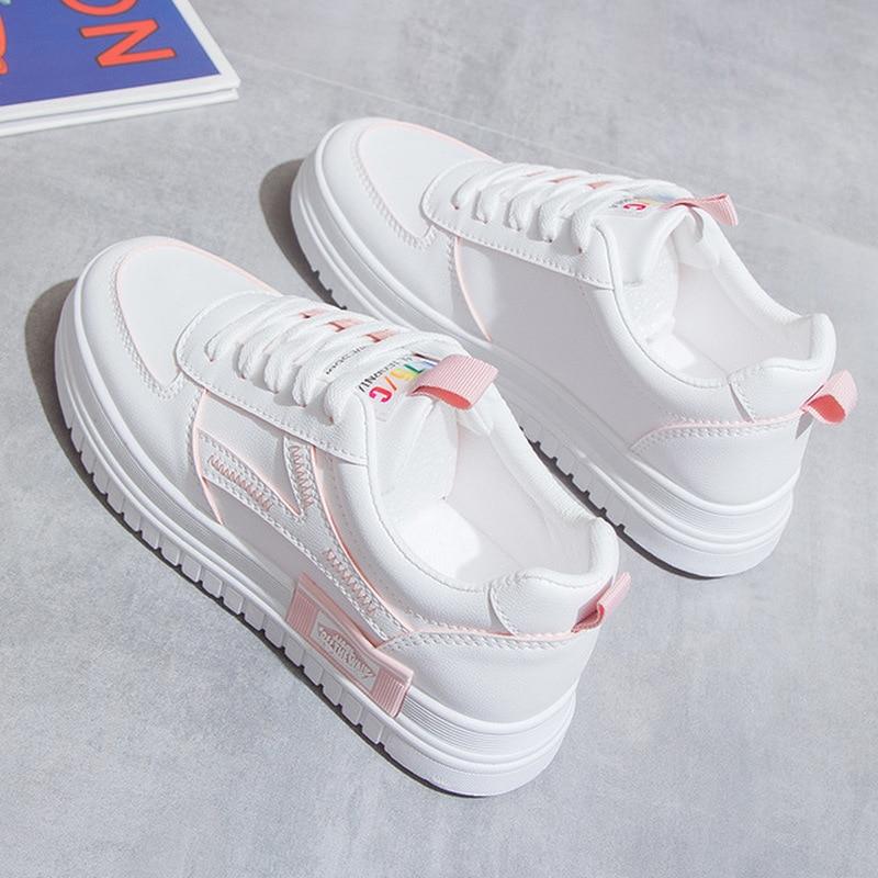 Nurse White Platform Shoes Student