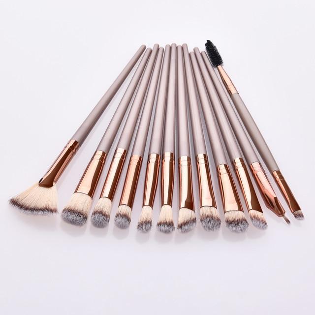 Makeup Brushes Set 3/5/12pcs/lot Eye Shadow Blending Eyeliner Eyelash Eyebrow Make up Brushes Professional Eyeshadow Brush 3