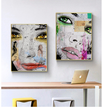 Modern Graffiti Art Canvas Painting Abstract Girl Graffiti Wall Art Posters and Prints for Living Room Wall Pictures Home Decor graffiti art monkey canvas painting colorful printed poster and prints painting wall pictures for living room home decor artwork