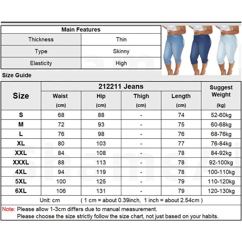 Vintage Mid Blue Stretchy Skinny Knee Capris Jean 6