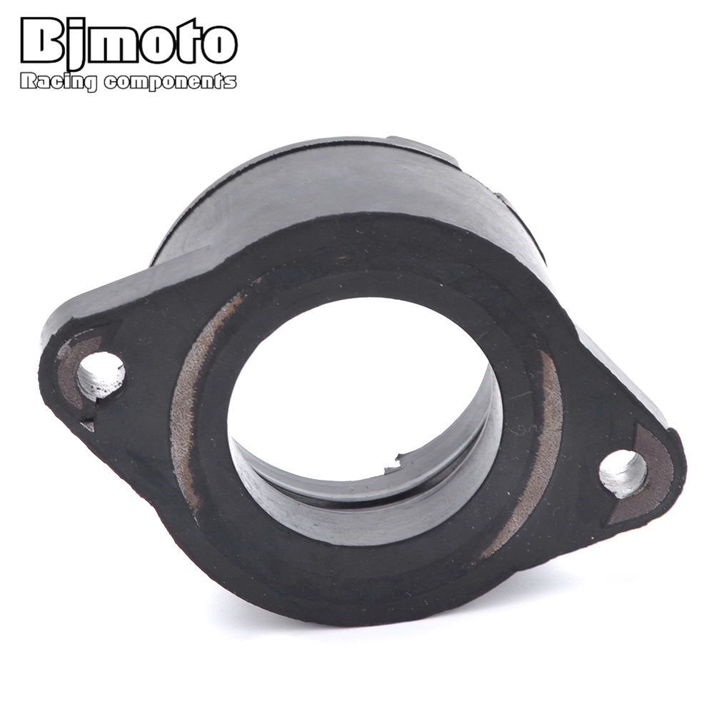Motorcycle Rubber Carb Carburetor Interface Adapter Clamp For <font><b>Yamaha</b></font> XT500F XT500G XT500H <font><b>XT</b></font> <font><b>500</b></font> F SR500G Gussrad 2J4 1979-1983 image