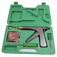 Kit arma de reparo do pneu vácuo da motocicleta bicicleta elétrica ferramentas de reparo do pneu vácuo puncture plug bloco de reparo de ar kit vazamento|Conjuntos ferramenta manual| |  -