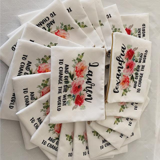 Griechenland kosmetik tasche personalisierte make-up tasche kleine kosmetik tasche kultur tasche mäppchen brautjungfer geschenk