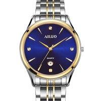 Роскошный бренд франция AILUO пара часы Япония MIYOTA G10 кварцевые часы для мужчин с заводом при ходьбе 7 мм ультратонкие часы сапфир A7075M