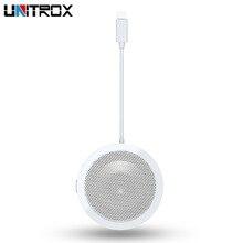 לייטנינג ל usb אודיו מתאם מופעל כנס רמקול עם מיקרופון עבור חדר ישיבות עבור iPhone X/XR/XS מקסימום 8 7/iPad/iPod