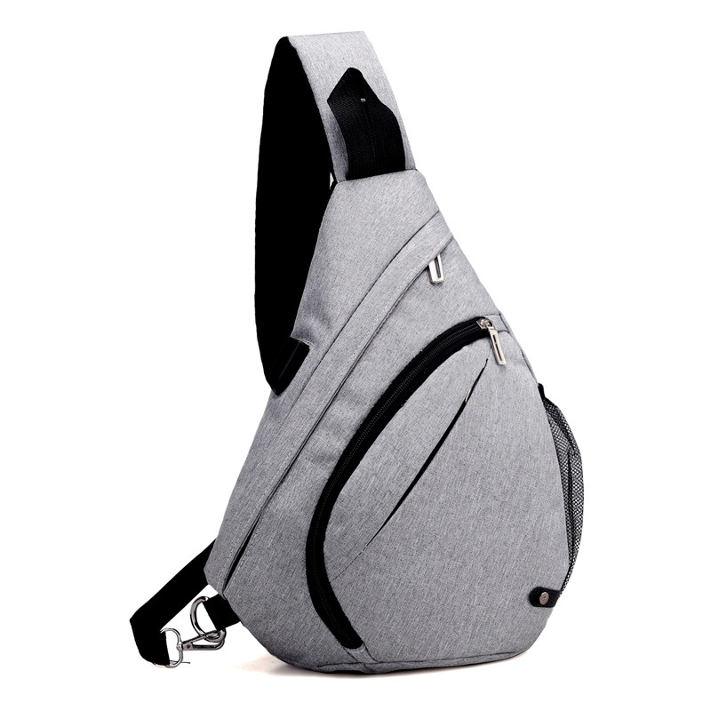 Summer New Style Large-Volume Chest Pack Men's Top Grade Fabric Shoulder Triangle Bag Korean-style Water Droplet Bag Extra-large