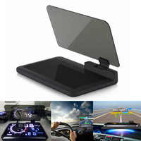 H6 universel Voiture GPS navigateur Smartphone HUD tête haute support d'affichage avec Film de réflexion Transparent noir tapis antidérapant