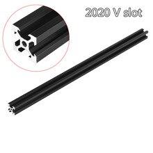 100-1000 мм черный V-образными пазами Алюминий профиль штранг-прессования рамки для лазерный гравировальный станок с ЧПУ 3D-принтеры Камера слайдер мебели