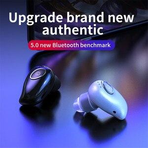 Image 2 - V21 무선 블루투스 5.0 단일 미니 헤드셋 이어폰 스포츠 스테레오 이어폰 핸즈프리 블루투스 무선 이어 버드