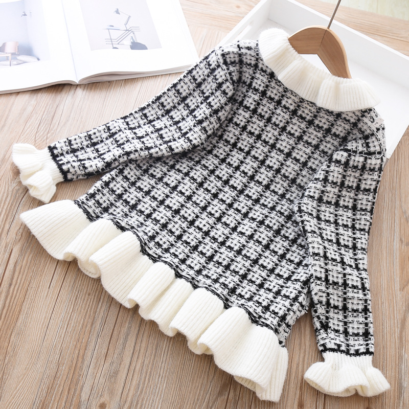 Baby Girls Knitted Dress Sweater shirt Infant Toddler Girl Pullover Child Warm Clothes Undershirts For Winter Autumn Dresses 5