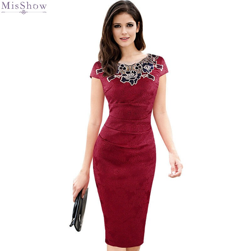 Burgundy Cocktail Dresses Knee…