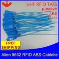 UHF RFID ABS кабельная стяжка Alien 9662 915m868m860-960MHZ H3 EPC 6C 20 шт. Бесплатная доставка Дальность чтения смарт Пассивная RFID бирка