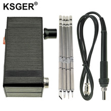 KSGER Mini T12 Soldering Station DIY STM32 V2.0 OLED T12 Iron Tips Welding Kits ABS Plastic Handle Zinc Stand Quick Heating