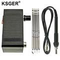 KSGER мини-паяльная станция T12 DIY STM32 V3.1S OLED T12, сварочные наборы с железными наконечниками, ручка из АБС-пластика, цинковая подставка, быстрый на...