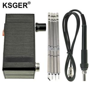 Image 1 - Ksger ミニ T12 はんだステーション diy STM32 V2.0 oled T12 のヒント溶接キット abs プラスチックハンドル亜鉛スタンドクイック加熱