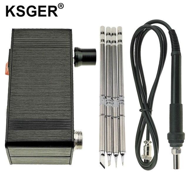 Ksger ミニ T12 はんだステーション diy STM32 V2.0 oled T12 のヒント溶接キット abs プラスチックハンドル亜鉛スタンドクイック加熱
