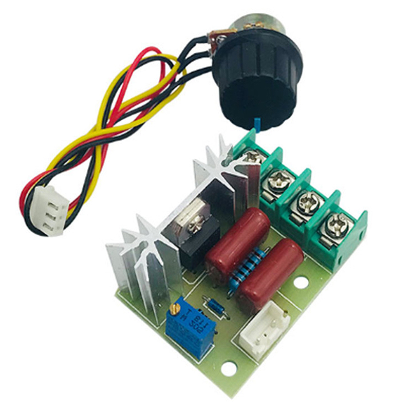 2000W Thyristor Speed Controller Motor 220V High Power Regulate Dimming Thermostat Module with External Potentiometer