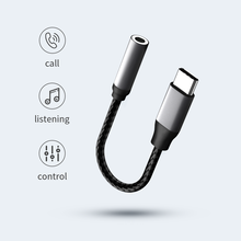 Usb c para jack aux cabo fones de ouvido adaptador de áudio tipo c para aux 3.5mm jack fone de ouvido conectar cabo para huawei xiaomi usb para aux