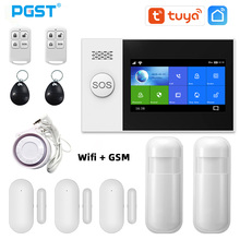 PGST PG-107 Tuya Wireless Home WIFI GSM GPRS Burglar Home Security With Motion Detector Sensor Burglar Alarm System APP Control