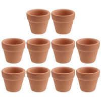 10 Uds 3x3cm Mini terracota Pot arcilla de cerámica macetas de flores suculentas vivero ollas grandes para las plantas de artesanía