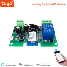 Tuya Smart USB 7-32V DIY 1 Channel Jog Inching Self-Locking WIFI Wireless Switch, APP Remote Control Compatible with Alexa