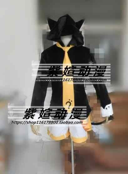 Vocaloid kagamine len rin gato neko hoodie com conto de ouvido cosplay traje conjunto completo
