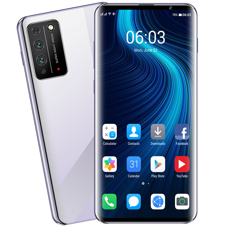 X10Pro 6.8inch 8core 128GB Smartphone Snapdragon 855 Android 10 Cellphone Dual SIM Mobile Phone Cell Smart Phones Free Shipping