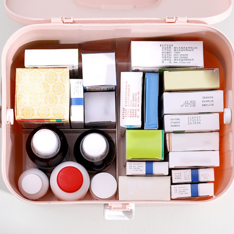 Storage Box Child First Aid Medical Box Household Medicine Family Packed Large Capacity Portable Medicine Box Medicine Box NEW