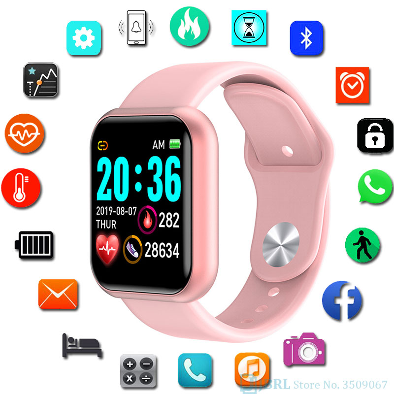 Fashion Square Smart Watch Women Sport Watch Electronic Ladies Wrist Watch For Andriod Ios Smart Clock Male Female Smart Watch