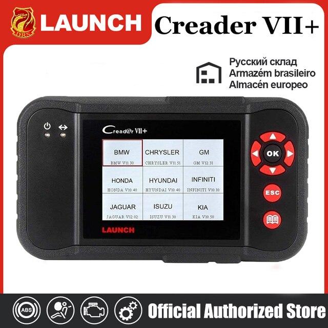 เปิดตัวCreader VII + เปิดตัวCRP123 อัตโนมัติรหัสReaderเปิดตัวX431 Creader VII Plus OBD2 เครื่องสแกนเนอร์OBDIIเครื่องมือวินิจฉัยรถยนต์ABS SRS