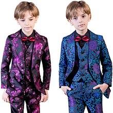YuanLu/5 шт.; Блейзер; Детский костюм для мальчиков; деловой костюм; одежда для малышей; вечерние костюмы в британском стиле для свадьбы
