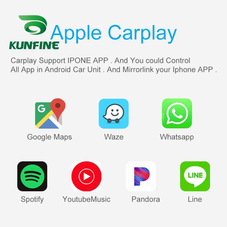 Kunfine Dây Carplay Dongle Cho Android Dàn Âm Thanh Xe Hơi Đơn Vị USB Carplay Kèm Android Tự Động Carplay Adapter
