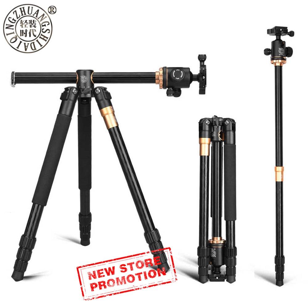 Portable Compact Travel Horizontal System Tripod Q999H Professional Camera Tripods 61 Inch For Leica Nikon Sony SLR DSLR Cameras