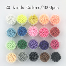 PUPUKOU 10/20/30 Kinds color Beads Puzzle Crystal Color Aqua DIY Beads Water Spray Set Ball Games 3D Handmade Magic Toy for Chil