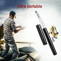 Super Lightweight Portable Pen Rod Fishing Set Mini Telescopic Fishing Rod Pole + Reel Pocket Fishing Reel Accessories|Rod Combo| |  -