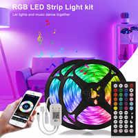 Tira de luces Led de tres modos con Control remoto, cinta de luces Led de 12V con Control inteligente por Bluetooth y retroiluminación para TV