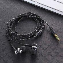 Новые проводные наушники, абсолютно новые стерео наушники-вкладыши 3,5 мм, нейлоновый плетеный кабель, наушники, гарнитура для ноутбука, смартфона#2