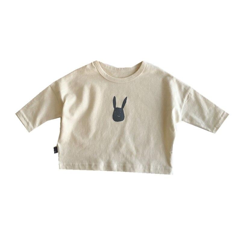 947.0¥  VIDMID Autumn 2020 children's cotton T shirt boys and girls loose top baby rabbit bottomed ...