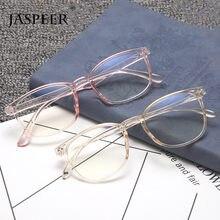 JASPEER Sqaure – lunettes Anti-rayons bleus pour homme et femme, monture optique transparente et légère pour ordinateur