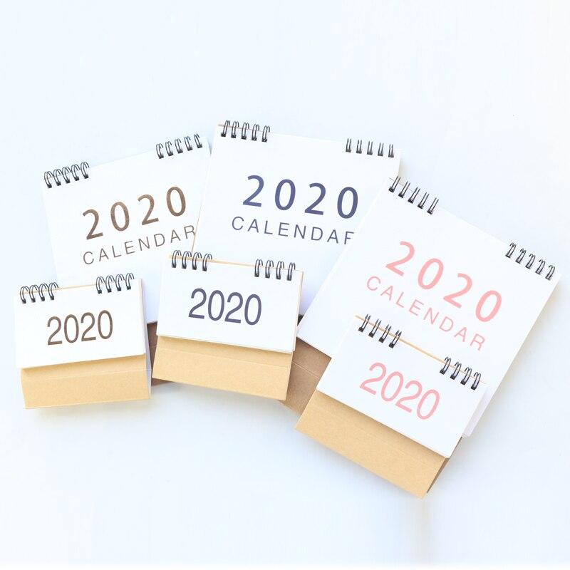 Domikee Office School Mini Gold Foil Classic 2019 2020 Year Desk Calendar Coil Spiral Desk Agenda Planner Organizer Stationery