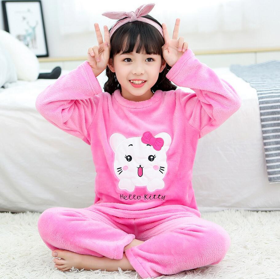 Новинка года; зимняя детская флисовая Пижама; теплая фланелевая одежда для сна; домашняя одежда для девочек из кораллового флиса; детская пижама; домашняя одежда; Пижама для мальчиков - Цвет: model 1