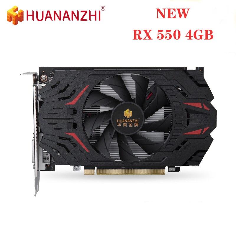 Новая графическая карта HUANANZHI RX 550 4G 128 бит GDDR5 6000 МГц 1183 МГц RX550 HDMI DVI VGA 14Nm 512 единиц 50 Вт оригинальная видеокарта