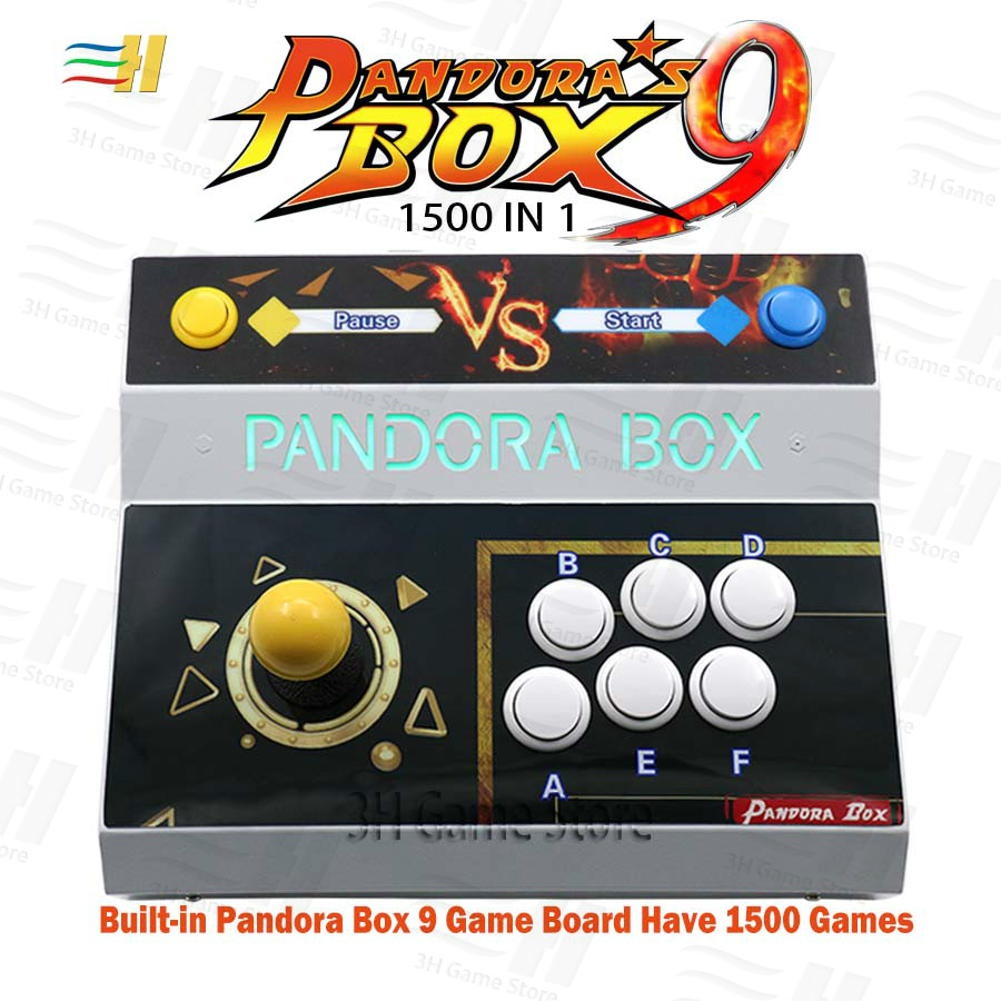 New Pandora Box 9 1500 in 1 arcade game single player console joystick button USB HDMI VGA output 720P game video to TV PC PS3 image