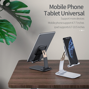 Image 4 - Essager Foldable Desk Mobile Phone Holder Stand For iPhone iPad Pro Tablet Flexible Gravity Table Desktop Cell Smartphone Stand