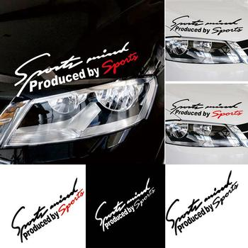 Car Styling Sports Mind Sticker Emblem Badge Decal Auto Headlight Bonnet Sticker image
