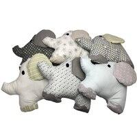 6Pcs/Lot Baby Bed Bumper Crib Cot Elephant Bumper Baby Bed Protector Crib Bumper Newborns Toddler Bed Bedding Set
