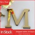 15CM 3D Spiegel Buchstaben Wand Aufkleber Für Logo Name Alphabet Hochzeit Liebe Briefe Englisch Wand Home Decor Schwarz/gold/Silber F23